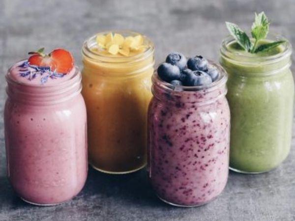 Smoothies de frutas y verduras