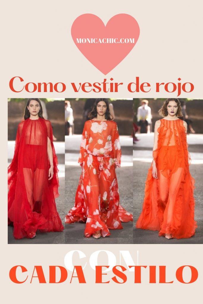 ideas para vestir de rojo
